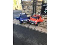Ford Rangers 12v Ride-On In Orange & Blue, White