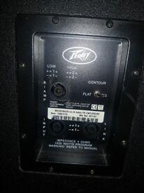 Pair of Peavey Messenger UL15 speakers