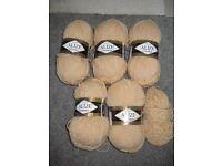 Alize Classic Lanagold Yarn - 5 Balls of Beige Wool Yarn