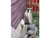 Partially broken slabs