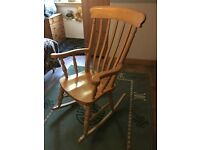 Solid Wood Rocking Chair Excellent Condition