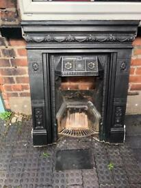 Edwardian/Victorian cast iron fireplace