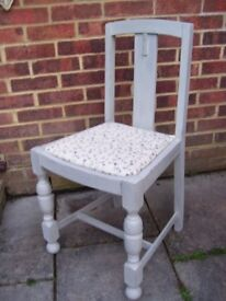 Lovely Antique Style Dining Chair, can be painted in Antique White, Clotted Cream or Flint Grey