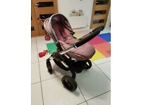 iCandy Travel System, inc pram base with rain cover, push chair & maxicosi car seat & adaptors.