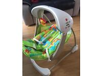 Swinging/vibrating baby chair