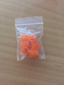 Set of orange dust caps *new*