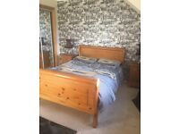 King size bed drawers bedside cabinets