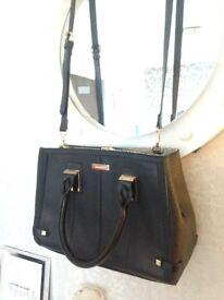 Large black/Gold River Island Bag new