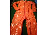 Stretch pvc full length catsuit sz m/l bnwot