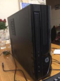 Slim HP Packard desktop tower (2016)