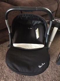 Silver Cross Surf Pram, Car Seat and Isofix Base