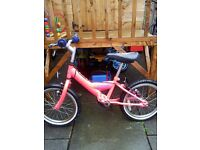BARGAIN AS NEW 16IN PINK BIKE