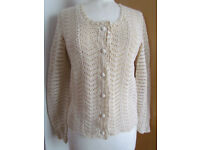 Elegant crochet jumper, size S/M, new
