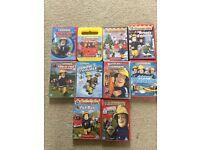 Ten Fireman Sam DVDs