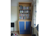 Bedroom Unit - Bookcase/Cupboard/Drawers in Very Good Condition