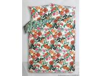 BRAND NEW GEORGE HOME EASY CARE TROPICAL FLOWERS SUPER KING DUVET SET