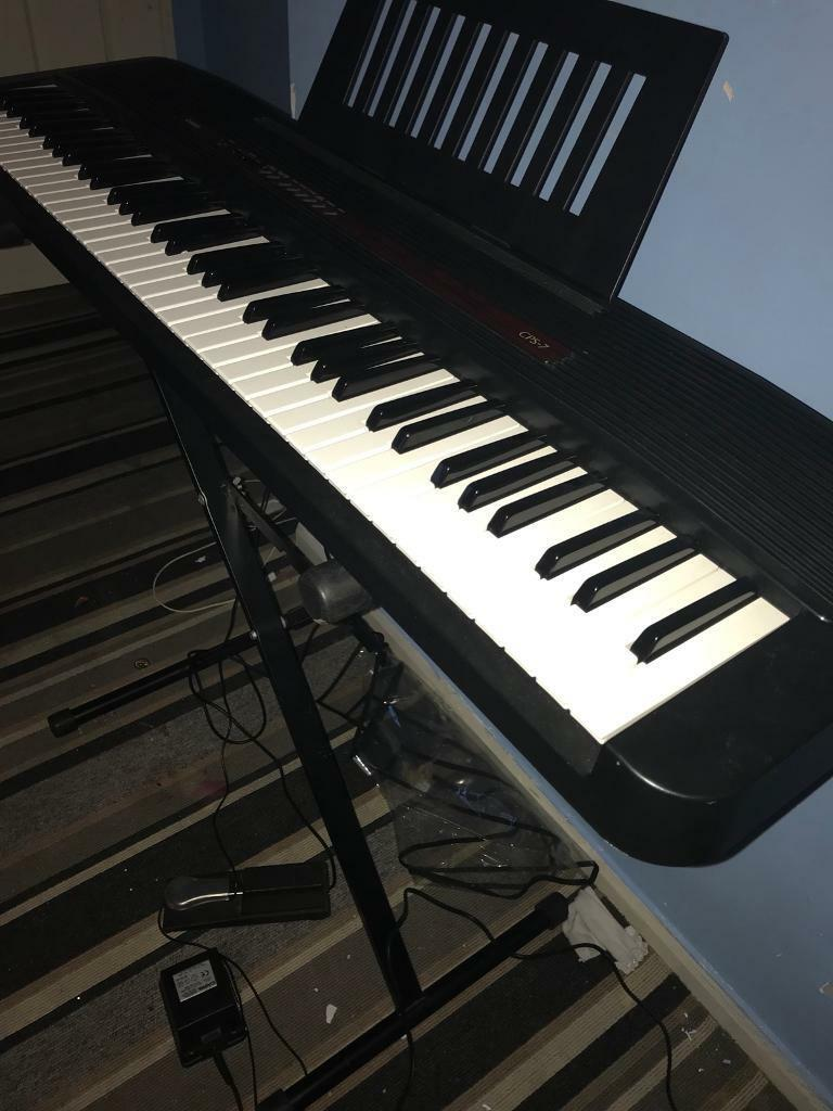 Casio cps 7 keyboard for sale complete with stand and foot pedal