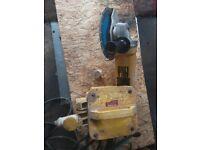 DeWalt Stone Cutter with 240mm cutting disc & Transformer.