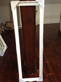"White Wooden Picture/Mirror Frame Internal Aperture 12"" x 45"""