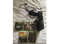 Xbox 360 with 1 pad and 5 games
