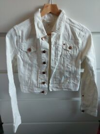 White jeans jacket H&M small size