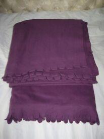 Two Purple Polarvide Fleece Blankets for £5.00