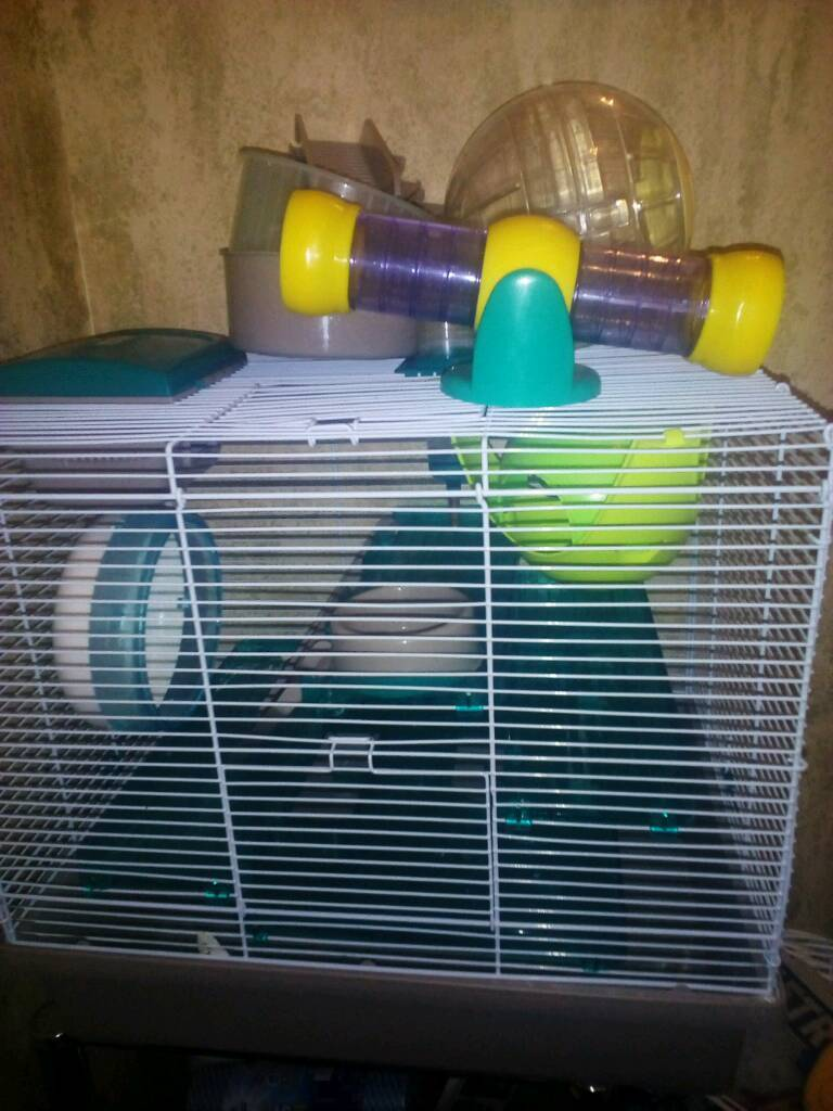 Hamster cage with accessories £25