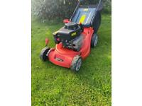 Soveriegn Petrol self drive lawnmower lightweight maintenance free poly deck mower wont rot serviced