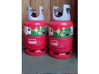 2 Brand new, unused, full calor gas lite bottles - 6 kg
