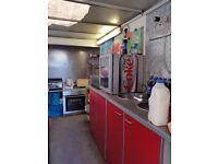 12ft Catering Trailer Lpg equipment gas setup Griddle fryer bain marie