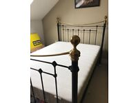 King size bedframe from Feather & Black, excellent condition (purchase price £750)