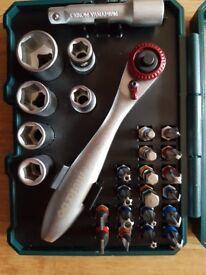 Metabo socket set and screwdriver bits