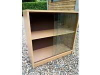 Beech display cabinet / bookcase