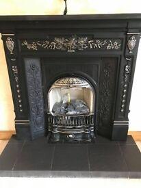 Fireplace and slate base
