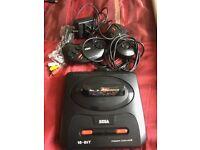 Sega Mega Drive 2 Black Console - with Streets of Rage