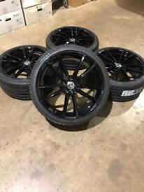 """Brand new set of 19"""" alloy wheels and tyres Vw"""