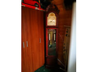grandfather chiming clock