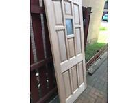 Hardwood Door.