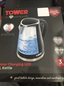 TOWER COLOUR CHANGING LED 1.7 KETTLE