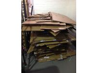 Free cardboard boxes, regular collections available