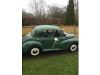 Morris Minor 1000 Wedding Car for hire