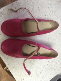 Pink adult dance shoes