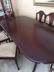 Rosewood mahogany dining table for sale