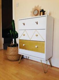 Chest of drawers handmade vintage style
