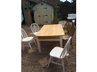 Project famhouse table and 6 chairs
