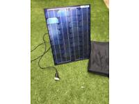 Large solar panel with bag