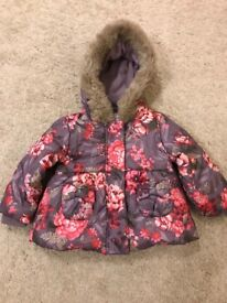 Monsoon coat for baby girl size 6-12 months
