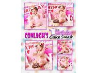 Cake Smash Photography Belfast & Newtownabbey