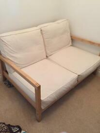 Ikea cream removable cover settee