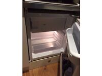 Integrated Under Counter Fridge w/ freezer box - Fits All Standard Counters - Barely Used - Just £30